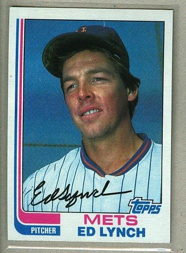 1982 Topps Baseball #121 Ed Lynch Mets Pack Fresh
