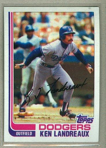 1982 Topps Baseball #114 Ken Landreaux Dodgers Pack Fresh