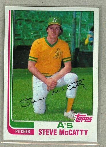 1982 Topps Baseball #113 Steve McCatty A's Pack Fresh
