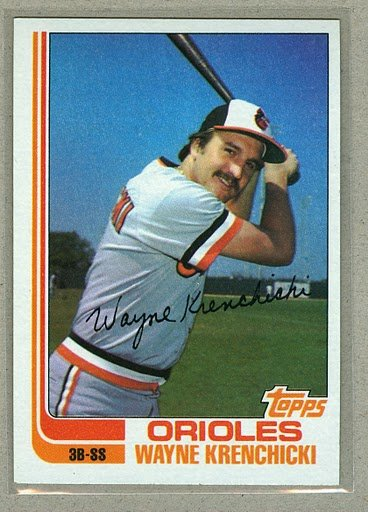 1982 Topps Baseball #107 Wayne Krenchiki Orioles Pack Fresh