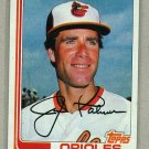 1982 Topps Baseball #80 Jim Palmer Orioles Pack Fresh