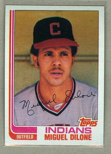 1982 Topps Baseball #77 Miguel Dilone Indians Pack Fresh