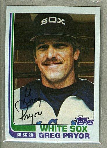 1982 Topps Baseball #76 Greg Pryor White Sox Pack Fresh