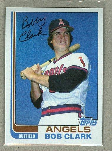 1982 Topps Baseball #74 Bob Clark Angels Pack Fresh