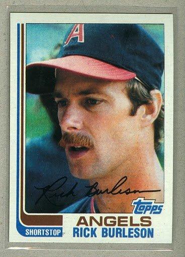 1982 Topps Baseball #55 Rick Burleson Angels Pack Fresh