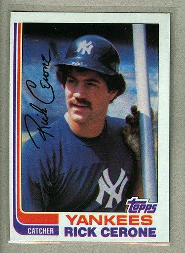 1982 Topps Baseball #45 Rick Cerone Yankees Pack Fresh