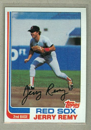 1982 Topps Baseball #25 Jerry Remy Red Sox Pack Fresh