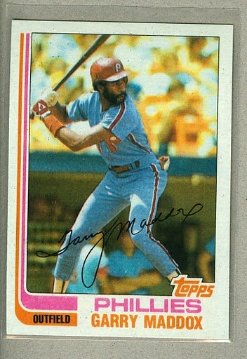 1982 Topps Baseball #20 Garry Maddox Phillies Pack Fresh