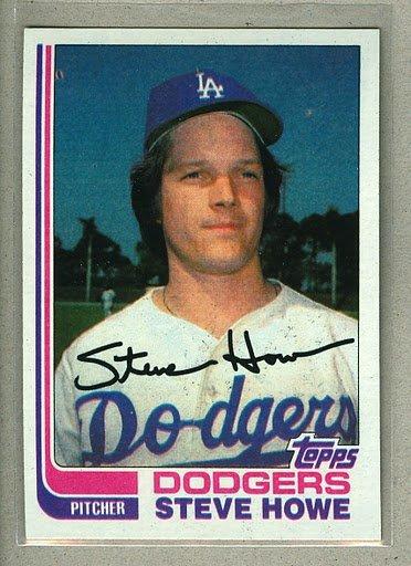 1982 Topps Baseball #14 Steve Howe Dodgers Pack Fresh