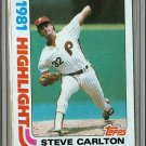 1982 Topps Baseball #1 Steve Carlton Phillies Pack Fresh