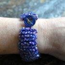 Sparkling Swarovski Cuff Bracelet with Gorgeous Button