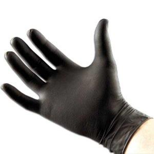 Black Seal Black Nitrile Powder Free Gloves - (Size M)