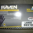1000 Raven Black Nitrile Powder Free Gloves - (Size L)