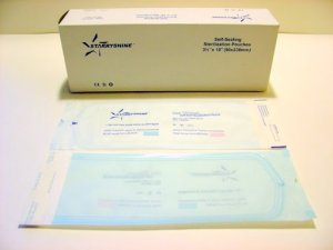 "200 STARRYSHINE DENTAL TATTOO STERILIZATION POUCHES - 3.5"" x 10"""