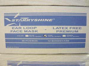 600 STARRYSHINE EAR LOOP SURGICAL DUST FACE MASK - BLUE
