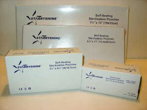 "3200 STARRYSHINE DENTAL TATTOO STERILIZATION POUCHES - 3.5 "" x 6.5"""