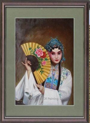 ART SALE ORIGINAL OIL PAINTING Beijing opera FIGURE