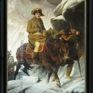 OIL ON CANVAS Napoleon Crossing the Alps-Delaroche