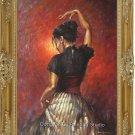 OIL ON CANVAS BOLERO DANCER realism with impressionism