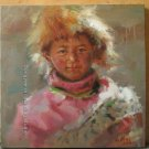 ART ORIGINAL OIL ON CANVAS TIBETAN children ON SALE