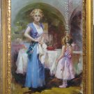 ART SALE OIL PAINTING mothers-love FIGURES Signed 36""