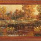 ART landscape realism with impressionism