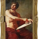 Ingres's oil painting-Academic Study of a Male Torse