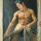 ORIGINAL Photorealism OIL ON CANVAS ON SALE MALE NUDE
