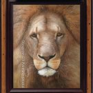 ART ORIGINAL OIL ON CANVAS ANIMAL LION