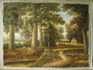 ART 100%hand  oil painting landscape a path