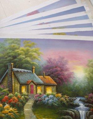 """Wholesale lot 9PCS oil paintings-Landscape-24x36"""""""