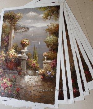 "Wholesale lot 9PCS oil paintings-Mediterranean-24x36"""
