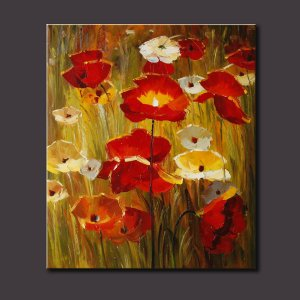 """OIL PAINTING Wall Art Drawn By Knife-Flowers 20x24"""""""