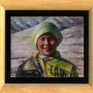 Original Art Oil Painting Xingjiang Preetty Young Girl