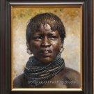 Original Oil Painting Portrait Of Ethiopia Bodi woman