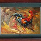 Impressionism Oil Painting On Canvas Animal The Cock