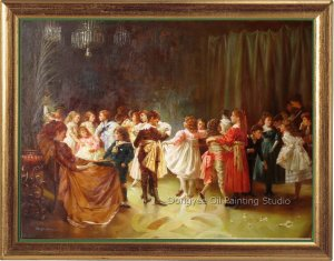 oil painting-Alexander Mark Rossi-May I Have This Dance