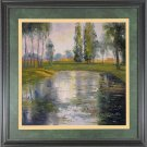 Sketchy Oil Painting On Canvas Quality Landscape Pond