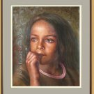 ORIGINAL OIL PAINTING PORTRAIT American YOUNG GIRL