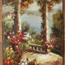 ART OIL PAINTING ON CANVAS easy to hang Gardens 24x36""