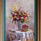 ART SALE OIL PAINTING PAINTING FLOWER STILL LIFE 24x36""