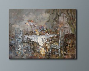 "Heavy Oil Painting Qiality Art Sale Dining-room 36""x48"""