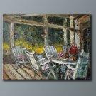 """Heavy Oil Painting Qiality Landscape Art Garden 36""""x48"""""""