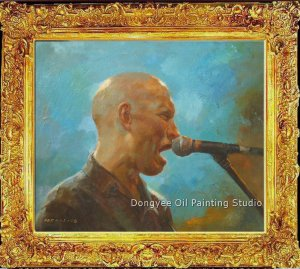 SALE ORIGINAL OIL ON CANVAS Singer PORTRAIT SIGNED-N/R