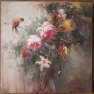 Original oil paintings folwer and birds quality art