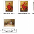 Wholesale lots 6 oil paintings-flower Drawn By Knife-36