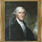 OIL PAINTING George Washington REPRO OF Gilbert Stuart