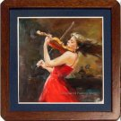 Art Realism With Impressionism Oil Painting Violinist