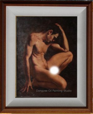 Art Original Oil Painting Everlasting Men Male Nude