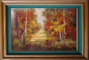 Heavy Oil Painting On Canvas Quality Landscape Woodland